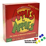 Apples to Apples Party Box - The Game of Hilarious Comparisons! Plus FREE Rainbow Dice