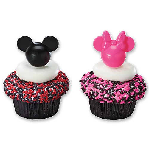 DecoPac Mickey and Minnie DecoPic Cupcake Picks (12 Count)