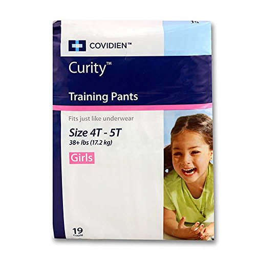Curity Toddler Pull-On Training Pants for Girls, Size Extra Large - XL (Over 38 lbs), 19 - 1