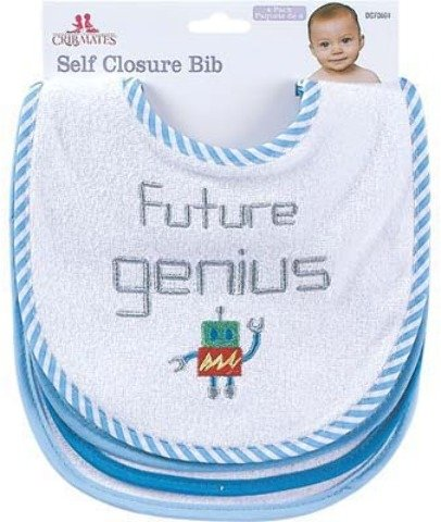 Terry Baby Feeding Bibs Set 4 Pack [6 Pieces] *** Product Description: Terry Baby Feeding Bibs With Fun Designs Embroidered On The Front. They Protect Baby'S Clothes From Getting Food Stains. Assorted Sayings And Colors 4 Pack *** front-959906