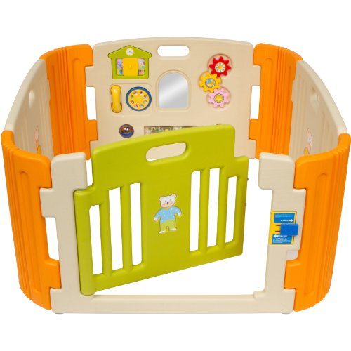 Friendly Toys Little Playzone with Deluxe Play Center, Orange/Beige