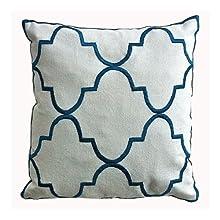 Ultra-Snob Marrakech Small Square Oxford Canvas Cushion Cover White