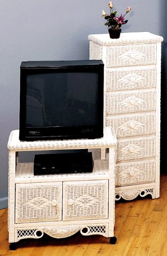 Image of Old Fashion Classic New Wicker & Rattan Furniture Charlotte TV/VCD Cabinet #CAC71 (B0094K9UCQ)