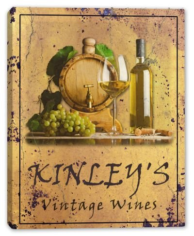 kinleys-family-name-vintage-wines-stretched-canvas-print-16-x-20