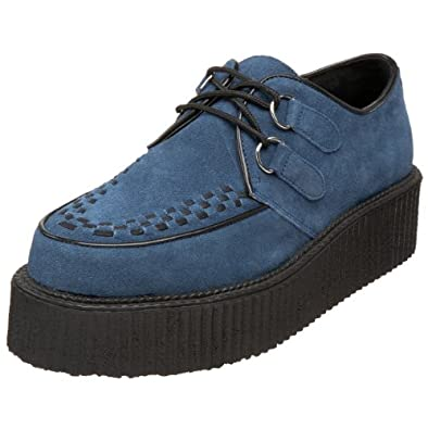 Demonia Mens Loafers Creeper-402S blue suede Size 3.5 UK