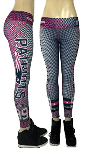 [Fiber New England Patriots Leggings NFL Yoga Pants Women's Compression Tights] (Throwback Halloween Costumes)