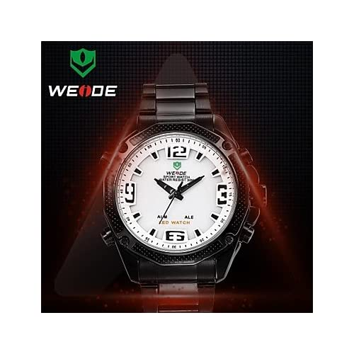 WEIDE® Men's Round Dial Full Steel Watch Band Janpan Quartz Movement Alarm And Diver Wrist Watches(Assorted Colors...