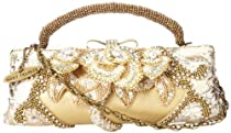 Mary Frances 10-250 Champagne Kisses Evening Bag,Champagne/Ivory,One Size