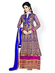 Bikaw Embroidered With Embellished Pink And Orange Net Traditional Party Wear Lehenga Choli Set. - SF45