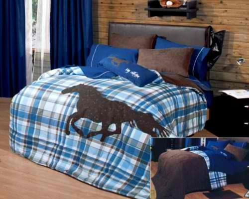 Twin Horse Comforter front-584129