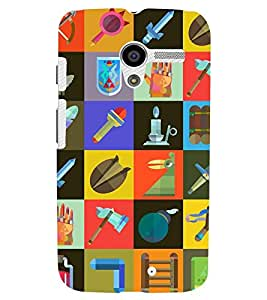 Printvisa Check Pattern With Different Contents Back Case Cover for Motorola Moto X XT1058::Motorola Moto X (1st Gen)
