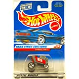 1998 Mattel / Hot Wheels Express Lane (Red Racing Shopping Kart) 1998 First Editions #37 Of 40 Cars 1:64 Scale...