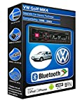 VW Golf MK4 car radio Alpine UTE-72BT Bluetooth Handsfree kit Mechless Stereo