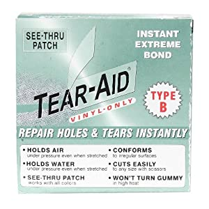 Tear-Aid Vinyl Repair Patch Kit Type B Green