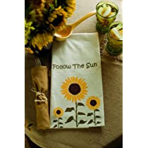 Sunflower Summer Harvest Tea Towels (Set of 2)