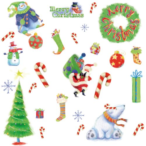RoomMates PJ2010SCS Merry Christmas Peel & Stick Wall Decals