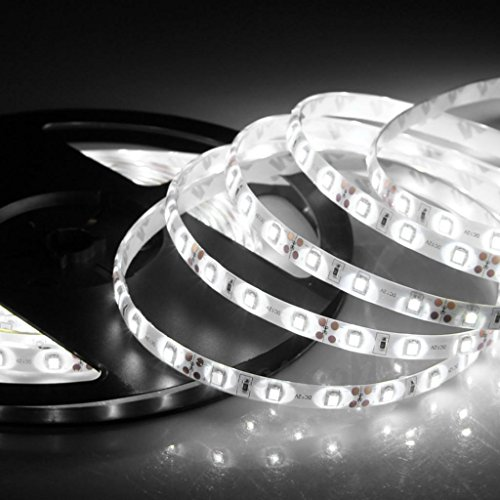 Happy Hours® Non - Waterproof 2 M Smd 3528 120 Led/M Cool White Led Strip Light ,Led Flexible Ribbon Lighting Strip Light Tape Best For Christmas ,New Year ,Home,Birthday Party,Ktv,Bar Decoration, Garden, Indoro & Outdoor Use + 12V Dc