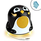 Compact Powerful Bass Speaker Buddy the GOgroove Groove Pal Junior Penguin with Dynamic Sound and LED Base Works With Acer Aspire , Apple Macbook Pro , Dell XPS , MSI GT60 , Razer Blade and More Laptops Computers
