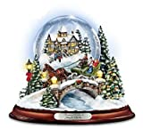 Kinkade Musical Jingle Bells Snowglobe With Swirling Snow