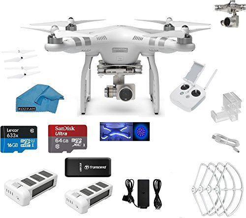 Purchase DJI Phantom 3 Advanced Quadcopter Drone with HD Video Camera EVERYTHING YOU NEED Kit + DJI ...