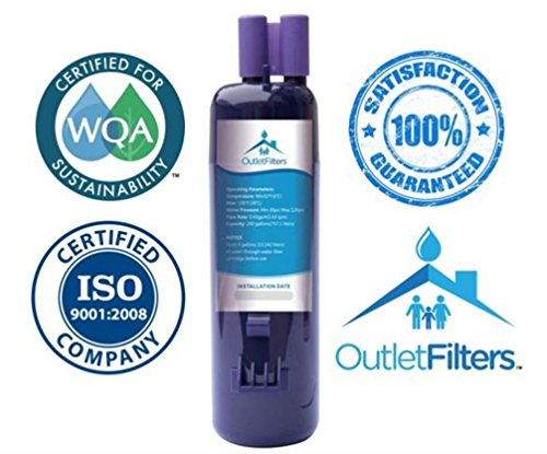 Outlet Filters Water Filter, Compatible with Whirlpool w10295370a, EDR1RXD1 & Kenmore 9930, 46-9930 - For Side-by-Side Refrigerator, 1 pack (Refrigerator Filters Kenmore 9930 compare prices)