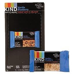 Kind Snacks Healthy Grains Bar Vanilla Blueberry 12-1.2 oz Granola Bars