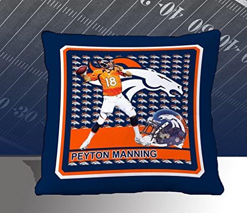 Nfl Biggshots Bedding - Denver Broncos Peyton Manning Toss Pillow, 18-Inch front-418057