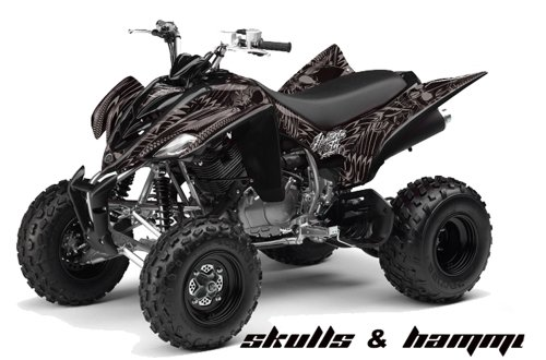 Huntington Ink AMR Racing Yamaha Raptor 350 ATV Quad Graphic Kit - Skulls and...
