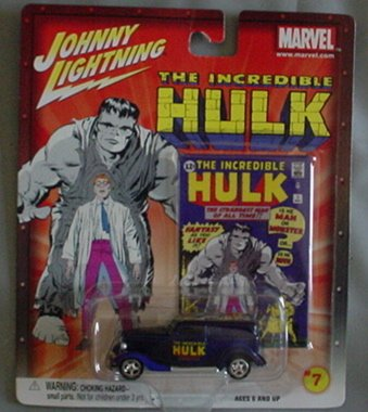 Johnny Lightning The Incredible Hulk '33 Ford Delivery Marvel BLUE #7