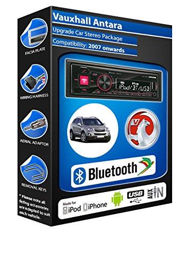 Opel Antara autoradio Alpine UTE 72BT mains-libres Bluetooth pour autoradio stéréo