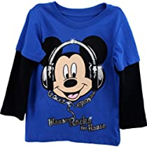 "Disney Mickey Mouse ""Mouse Rocks the House"" Layered T-Shirt 2T-5T (3T)"