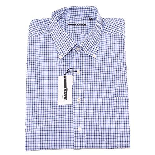 0018P camicia uomo XACUS manica corta blu shirt men sleeveless [45 (18)]