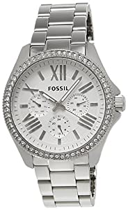 Fossil Damen-Armbanduhr Retro Traveler Analog Quarz Edelstahl AM4481