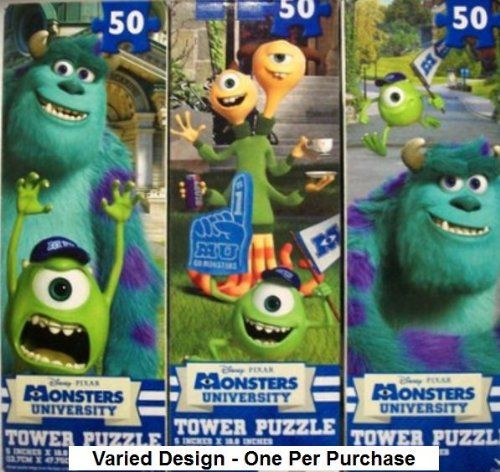 Monster University Tower Puzzles - One Varied Design - 50 Pieces - 1