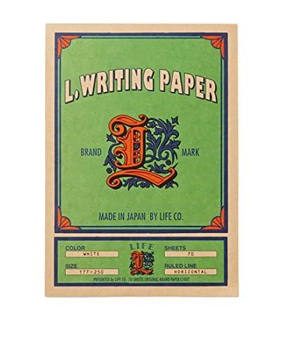 Life Co., Ltd. L. Writing Paper Ruled Letter Pad, Green