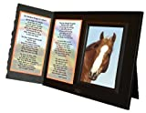 Rainbow Bridge Poem for Horses Sympathy Picture Frame Gift and Memorial Keepsake, Black with Foil Accent