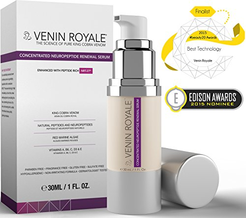 All In One Anti Aging Facial Skin Care Cream - Best for Wrinkles Fine Lines Rosacea Hydration Uneven Tone Texture Botox - Concentrated Neuropeptide Renewal Serum - 27