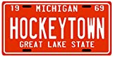 "Detroit Red Wings ""Hockeytown"" 1969 Michigan License Plate"