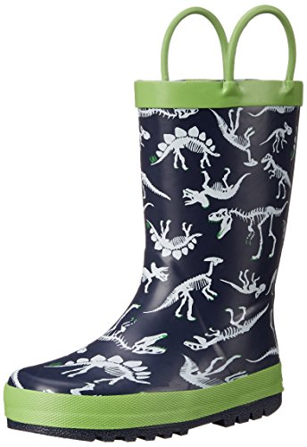 carter's Rex-R Rain Boot (Toddler/Little Kid), Navy/Green, 7 M US Toddler
