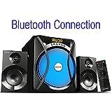 Boytone BT-230F, 2.1 Wireless Bluetooth Multi Media speaker, powerful home theater speaker systems, FM Radio, SD, USB ports, AUX, DVD input, 2800 watts PMPO, light, remote control, smartphone, Tablet