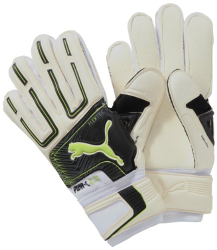 Puma - Guanti Portiere PowerCat 2.12 Protect RC, unisex Donna Uomo, Torwarthandschuh PowerCat 2.12 Protect RC, bianco-nero-lime -dark shadow, 11