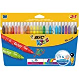 Bic Kids Kid Couleur 24 Fasermaler im Kartonetui von BIC