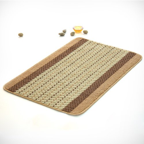 Naomi - [Tan Stripes] Luxury Home Rugs (15.7 by 23.6 inches)