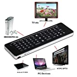 Black Rii 2.4G Mini Wireless Keyboard Air Mouse IR Remote Audio Chat for PC Android TV Box