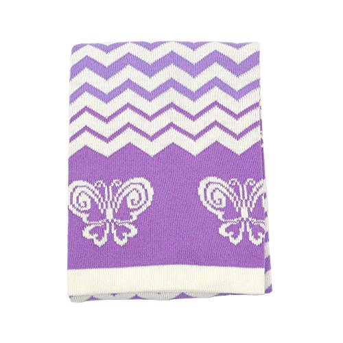 Koala Baby Cotton Jacquard Knit Blanket - Butterfly - 1