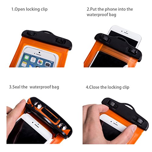 WALNEW Universal Waterproof Case,Cell Phone Dry Bag for ...