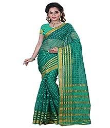 Sanju Dashing Green Color Cotton Silk Saree
