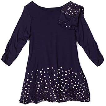 Nicole Miller Little Girls' Blake Dress, Navy, 4