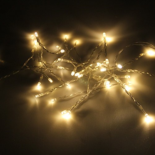 Karlling Battery Operated Warm White 40 Led Fairy Light String Xmas Party Decoration