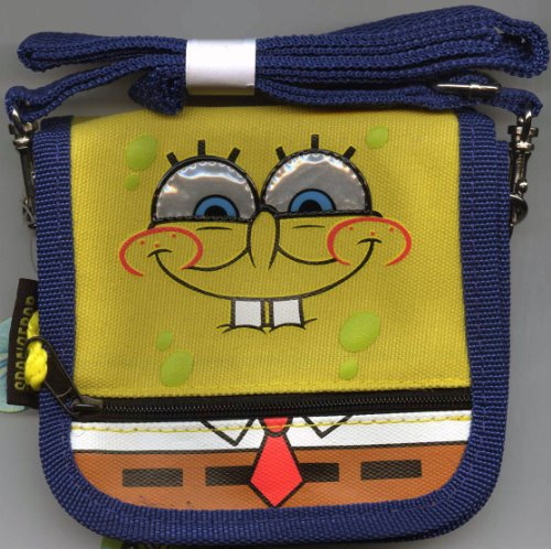 Spongebob Squarepants Wallet with Strap - Spongebob Mini Purse